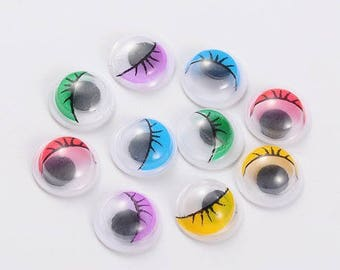 SET OF 20 EYES MOBILE TO BE STUCK EMBELISSEMENT SCRAPBOOKING 8 MM NEW