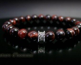 Ref red Tiger eye stones Bracelet: BN-371