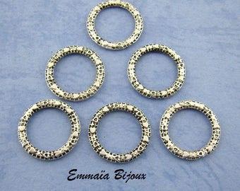 10 rings in silver 14 mm