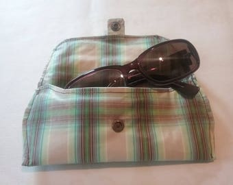 Cotton coated and padded glasses case