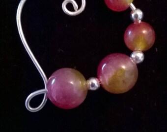 Necklace Amethyst, Lapis lazuli or on silver watermelon Tourmaline
