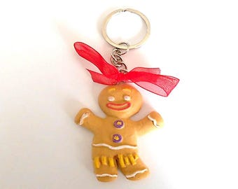 cute snowman gourmet keychain