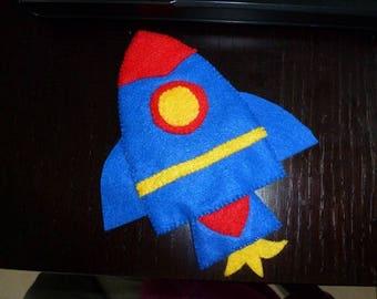 puppet character felt rocket