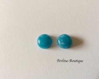 2 cabochon round 10mm aquamarine Quartz