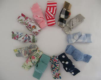 6 hair clips Click - Clack or crocodile LIBERTY and cotton