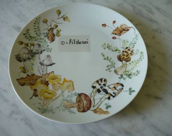 Plate porcelain decor hand number 2