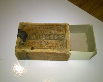 (36) French antique match box