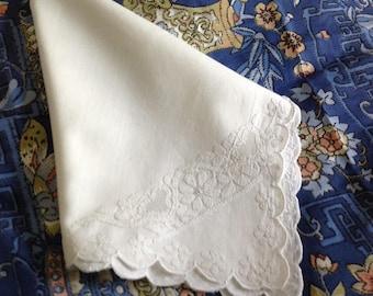 Big dress handkerchief or hankie in very fine cotton