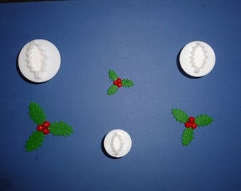 Cutter ejectors 3: Holly - leaves 3 different sizes