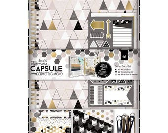 "Kit Scrap Book ""Geometric Mono"" - geometric black and gold"