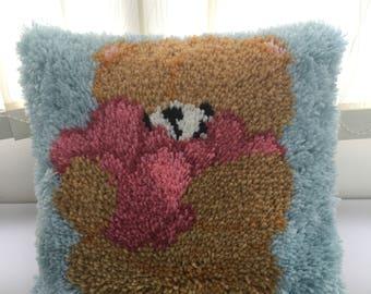 Bear - DIY Latch Hook Cushion Kits