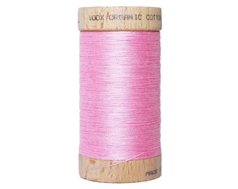 PALE - 100 meters - certified eco-friendly pink 100% organic cotton thread
