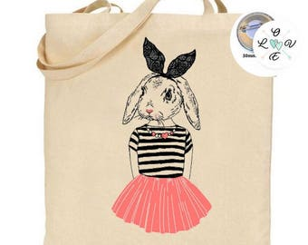 Tote bag Bunny dancer