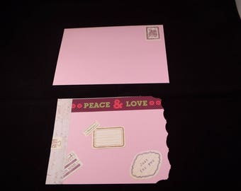 Handmade card and matching envelope