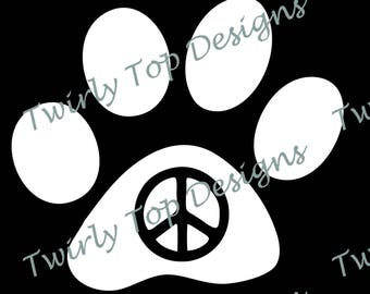 Paws for Peace Vinyl Decal