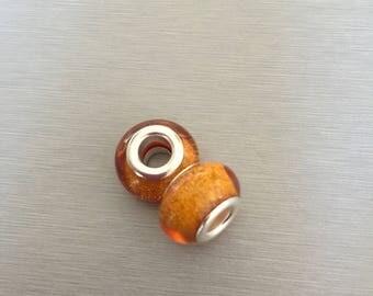 Gold IRIDESCENT acrylic bead