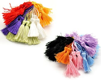 Matching set of 100 - 80 color silk tassel