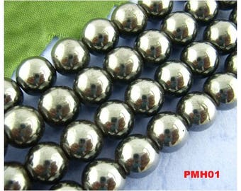 30 pearls snap magnetic 10 mm black - PMH01