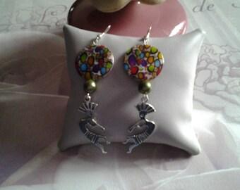 Earrings dangle tribal inspired