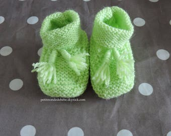 Lime green shoes 0/3 months