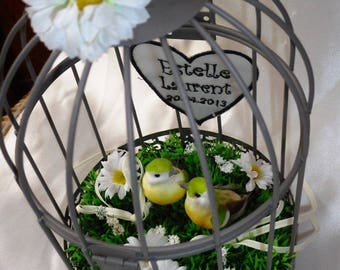 bird cage wedding pillow