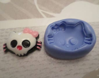 Mold for polymer clay cat Monster 3 / 2cm