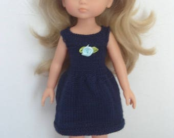 The girls blue dress doll clothes for Navy knit