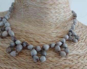 job's tears seeds necklace