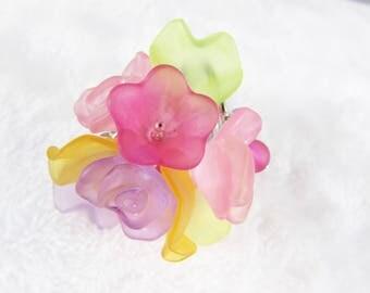 Ring - Multicolor - frozen charms B5A003 multi