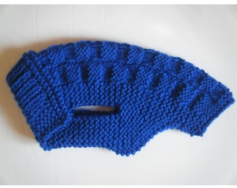 Coat / sweater for very small dog 40cm back: Royal Blue 40 x 40 cm