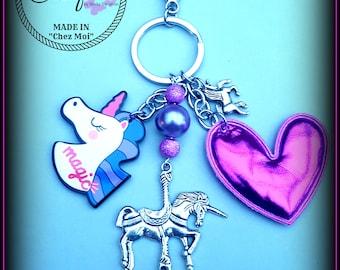 "bag charm ""love Unicorn"""