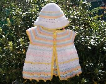 Vest and hat for little girls set