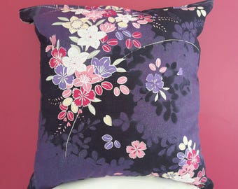 Cushion cover 40 x 40 cm. fabric Japanese floral patterns