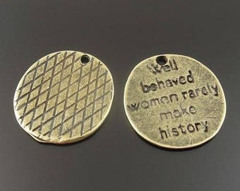 Medal bronze with 14 * 14 writing 20 * 1 mm