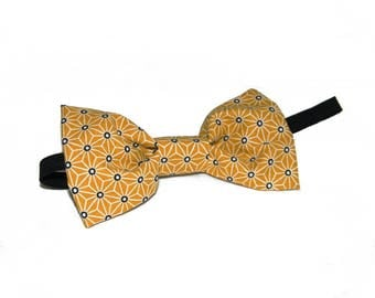 Bow tie ' father & son, yellow and black