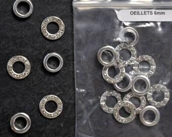 * NOT * pack of 10 metal EYELETS for 6mm METAL RHINESTONE