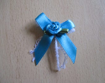 Brooch-wedding - turquoise and white boutonniere