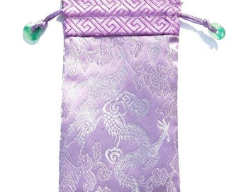 Japan spirit * cell phone Embroidered silk sleeve * accessory bag * Parma Violet