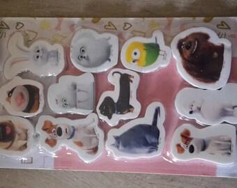 Erasers pets x 12 children school supply