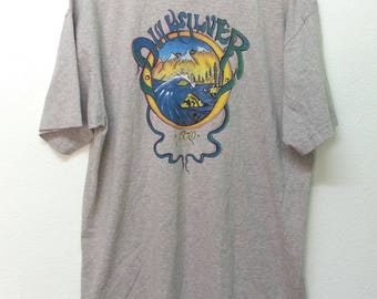 Vintage Quiksilver Big Logo Surfing Tee Shirt Size XL