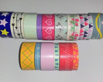 Masking tape / washi tape (15 rolls) fancy different colours for scrapbooking or any other creative ideas