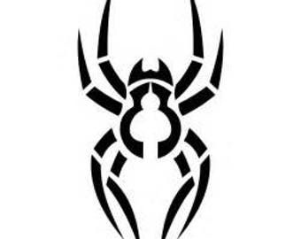 Tribal Spider decal