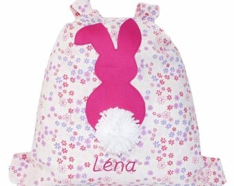 Bag child backpack custom embroidered Bunny