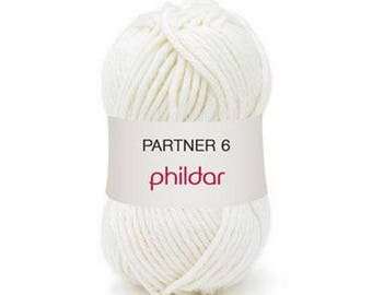phildar wool partner wool 6 Ecru