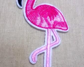 Flamingo 1 fusible badge