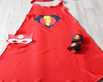 Super hero pattern red Flash costume