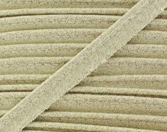Gold / piping lurex width 10mm cut 50 cm