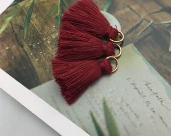 Tassel / red burgundy / with removable ring 2cm