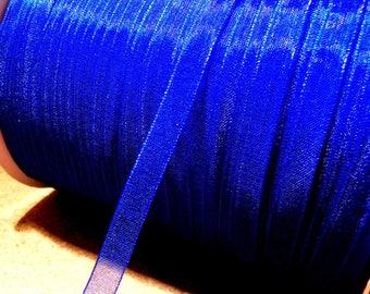 10 meter of 6 mm - OR7-royal blue organza Ribbon