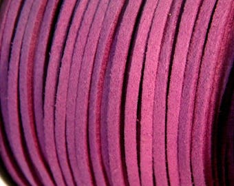 3 M X 1.5 mm - 2 Purple 3mm suede cord